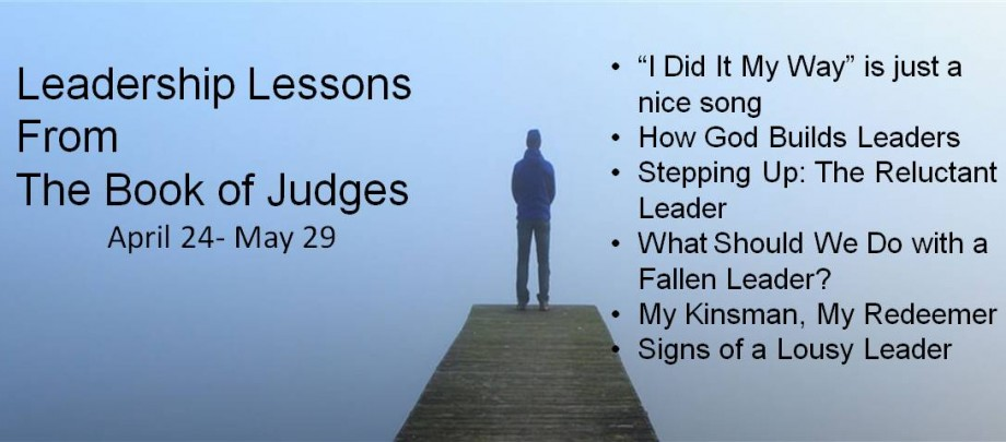 Leadership Lessons from the Book of Judges